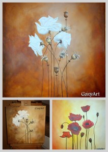 paitings with poppies